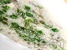 Рецепта Чорба / супа от гъби печурки със сметана и фиде или ориз